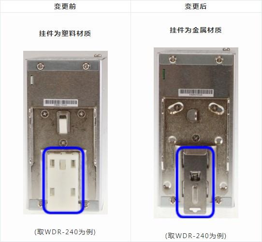 台湾明纬轨道电源挂轨材质升级
